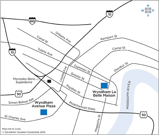 Magazine Street New Orleans Map.Wyndham Trips Welcome Center Maps Travel Directions New
